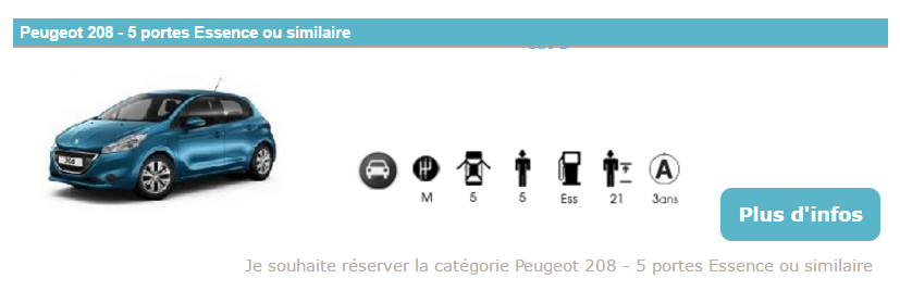 Nos locations de voiture en Martnique